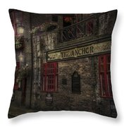 The Old Anchor Pub Throw Pillow by Erik Brede