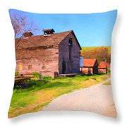 The Old Barn 5D22271 Throw Pillow by Wingsdomain Art and Photography