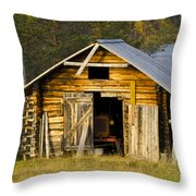 The Old Barn Throw Pillow by Heiko Koehrer-Wagner