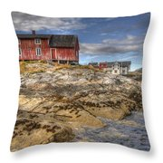 The Old Fisherman's Hut Throw Pillow by Heiko Koehrer-Wagner