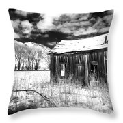 The Old Homestead Throw Pillow by Cat Connor