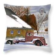 The Old Jalopy Throw Pillow by Sarah Batalka