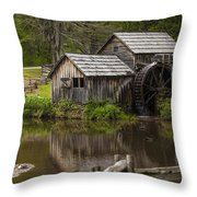 The Old Mill After The Rain Throw Pillow by Amber Kresge