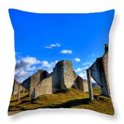 The Old Quarry At #18 - Chambers Bay Golf Course Throw Pillow by David Patterson