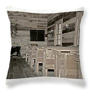 The Old Schoolhouse Throw Pillow by Susan Leggett