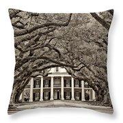 The Old South sepia Throw Pillow by Steve Harrington