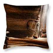The Old Workshop Throw Pillow by Olivier Le Queinec