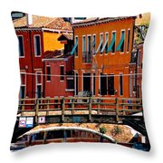 The Painters Eye In Venice Throw Pillow by Ira Shander