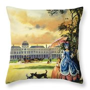 The Palace Of The Tuileries Throw Pillow by Andrew Howat