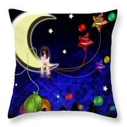 The Party Is Over Throw Pillow by Johnny Trippick
