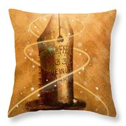 The Pen is Mighty Throw Pillow by Joe Mamer
