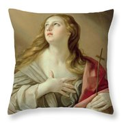 The Penitent Magdalene Throw Pillow by Guido Reni