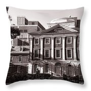 The Pennsylvania Hospital Throw Pillow by Olivier Le Queinec