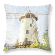 The Penny Royal Windmill Throw Pillow by Elaine Teague