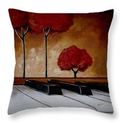 The Piano Man's Dream Throw Pillow by Vickie Warner
