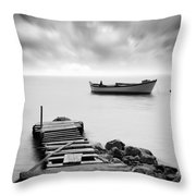 The Pier Throw Pillow by Taylan Soyturk