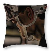 The Player Throw Pillow by Karol  Livote