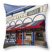 The Popcorn Shop Throw Pillow by Dale Kincaid