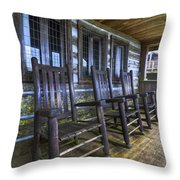 The Porch Throw Pillow by Debra and Dave Vanderlaan