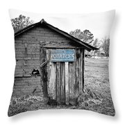 The Potato Shed Throw Pillow by Scott Pellegrin