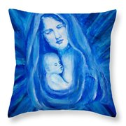 The Protecting Love Of A Mother And Her Child Throw Pillow by The Art With A Heart By Charlotte Phillips