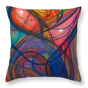 The Pulse Of The Heart Lies Strong Throw Pillow by Daina White