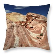 The Purple Wave 2 Throw Pillow by Bob Christopher