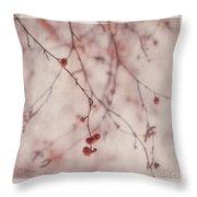 The Purr Of Autumn Throw Pillow by Priska Wettstein
