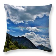 The Rare Phenomena Rainbows Throw Pillow by Janice Rae Pariza