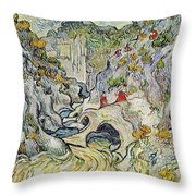 The Ravine Of The Peyroulets Throw Pillow by Vincent van Gogh