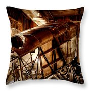 The Red Barn of the Boeing Company II Throw Pillow by David Patterson