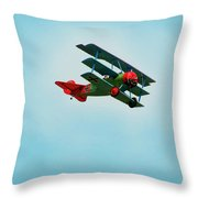 The Red Baron Throw Pillow by Thomas Young