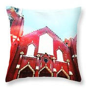 The Red Church By Sharon Cummings Throw Pillow by Sharon Cummings