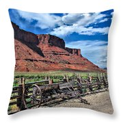 The Red Cliffs Throw Pillow by Gregory Ballos