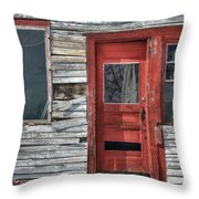 The Red Door Throw Pillow by Eric Gendron