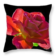The Red One Throw Pillow by Robert Bales