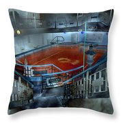 The Red Pool Throw Pillow by Betsy Knapp