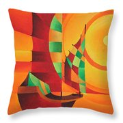 The Red Sea Throw Pillow by Tracey Harrington-Simpson