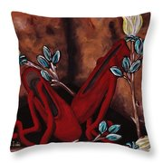 The Red Shoes Throw Pillow by Barbara St Jean