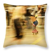 The Ref Throw Pillow by Theresa Tahara