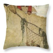The Rescue Circa 1916 Throw Pillow by Aged Pixel