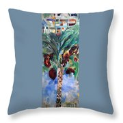 The Righteous Will Flourish Like The Date Palm Tree Throw Pillow by David Baruch Wolk