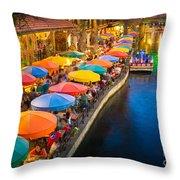 The Riverwalk Throw Pillow by Inge Johnsson
