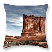 The Road Through Arches Throw Pillow by Benjamin Yeager