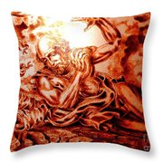 The Road To Damascus Throw Pillow by Gary Renegar