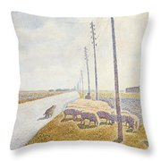 The Road To Nieuport Throw Pillow by Willy Finch