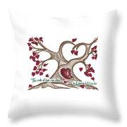 The Roots Of Love Throw Pillow by Minnie Lippiatt