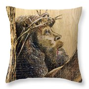The Sacrifice Throw Pillow by Richard Jules