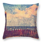 The Salty Air Sea Breeze In Her Hair Iv Throw Pillow by Aurelio Zucco
