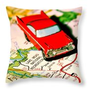 The Scenic Route Throw Pillow by Benjamin Yeager